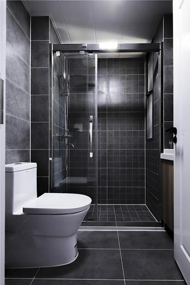 90平两居室装修卫生间效果图