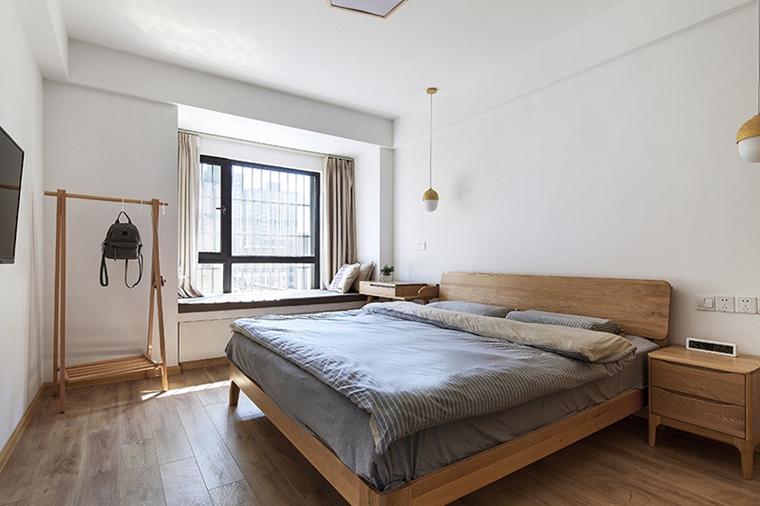 90平日式风格两居室装修卧室效果图