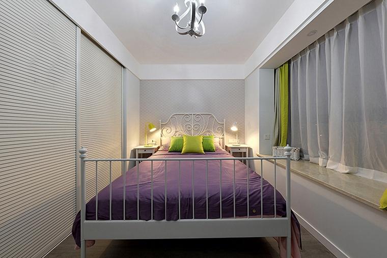 90平美式风格装修小卧室图片