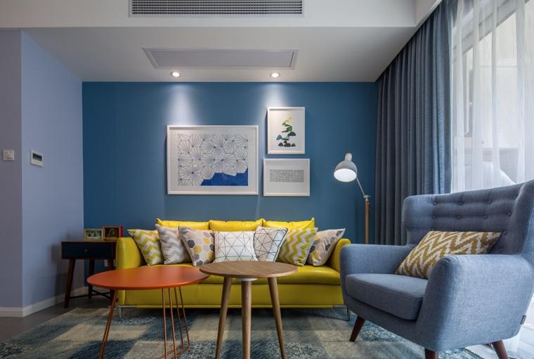 宜家风格两居室装修客厅背景墙
