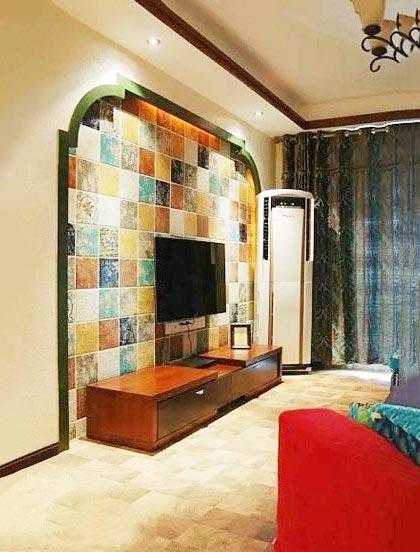 客厅电视背景墙装修平面图