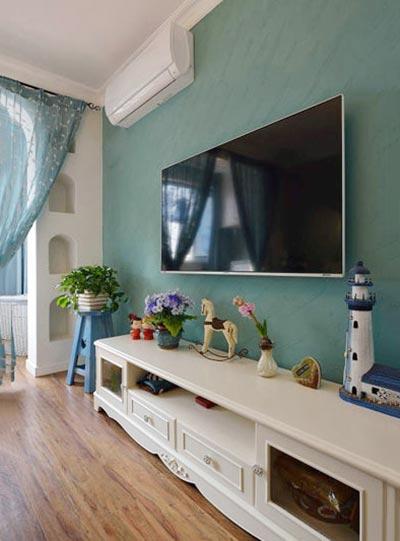 客厅电视背景墙装修实景图