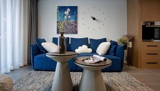 110平简约风格两居室装修客厅效果图