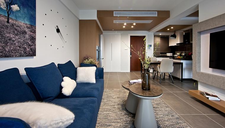 110平简约风格两居室装修时尚茶几图片