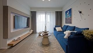 110平简约风格两居室装修布艺沙发图片