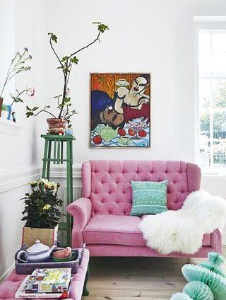 糖果色客厅装修平面图