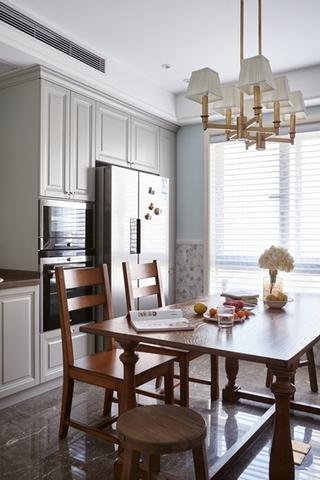 120平两居室复古装修餐厅效果图