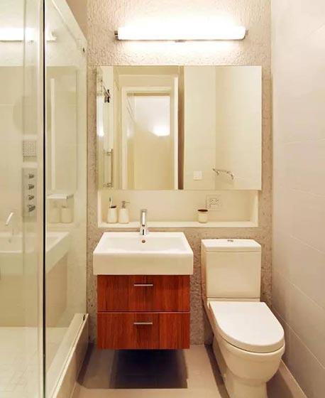 小户型卫生间玻璃隔断图