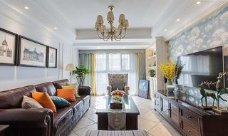 100平美式风格装修客厅效果图