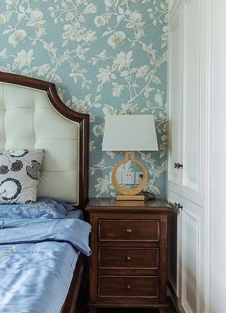 100平美式风格装修床头柜图片