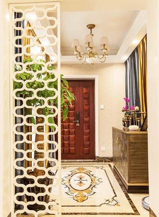130平美式风格三居室装修玄关效果图