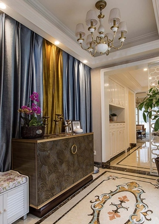 130平美式风格三居室装修收纳柜