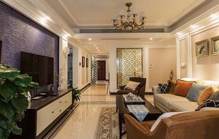 130平美式风格三居室装修沙发图片