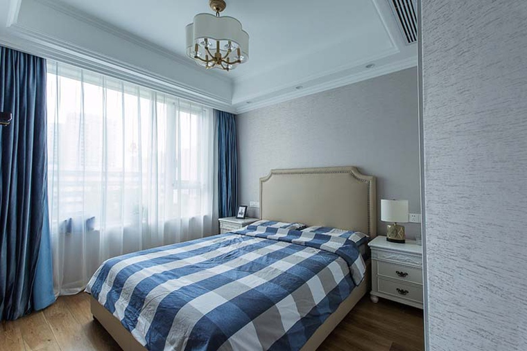 130平美式风格三居室装修次卧效果图