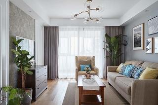 20万全包90平三居室客厅效果图