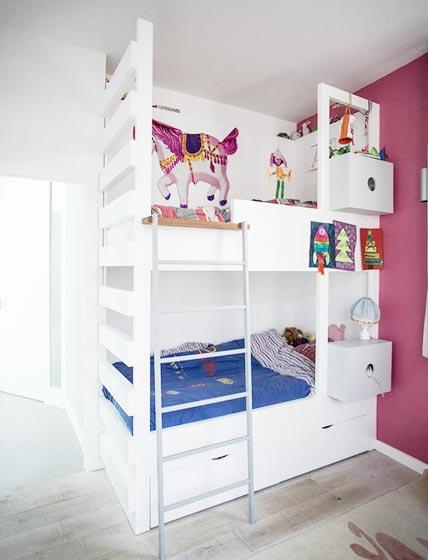 儿童房设计上下床图片