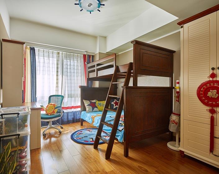 儿童房设计上下床设计实景图
