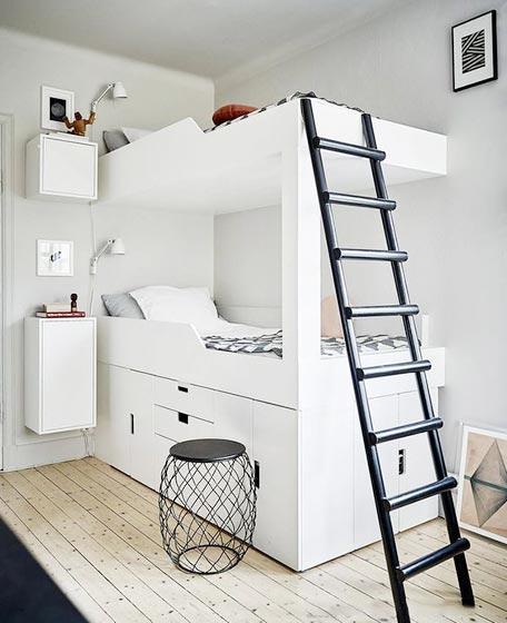 儿童房设计上下床装修图片