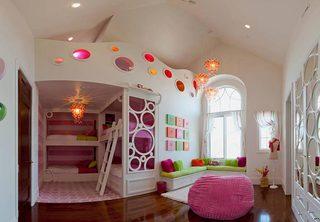 儿童房设计上下床布置摆放图