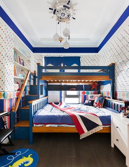 儿童房设计上下床设计平面图