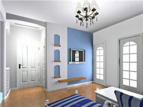 小户型地中海式装修效果图 8万打造65平明亮二居室