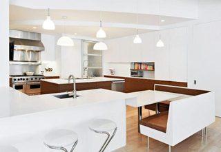 现代风厨房布置摆放图