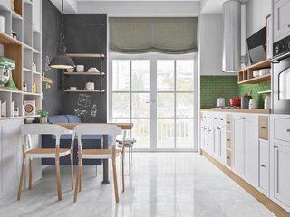 现代风厨房装修摆放图