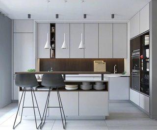 开放式厨房装修欣赏图