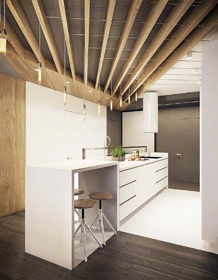 开放式厨房装修平面图