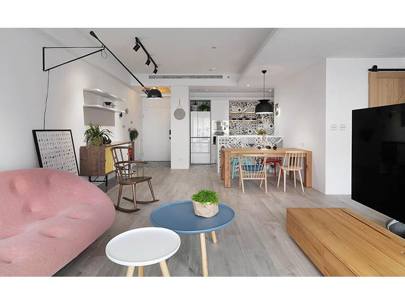 北欧风格的居家家具,浅淡的色彩,洁净的清爽感,让居家空间得以彻底图片