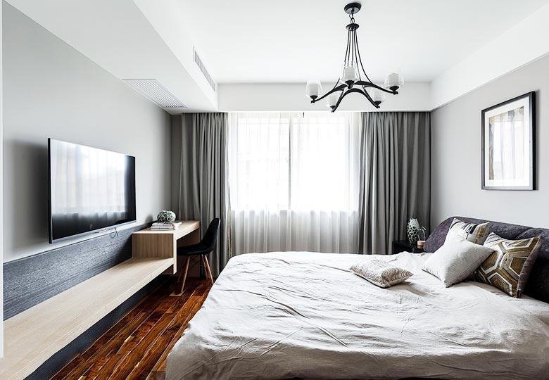 简约卧室设计布置摆放图