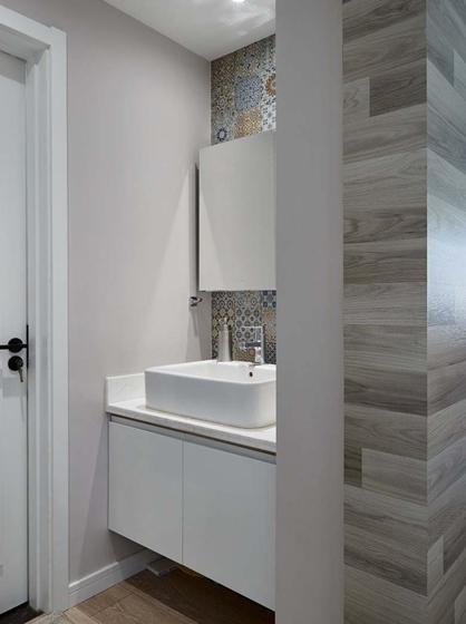 北欧风格三居室装修洗手台图片