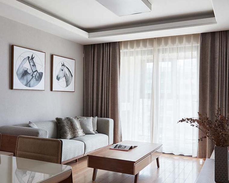 简约质感三居室装修客厅效果图