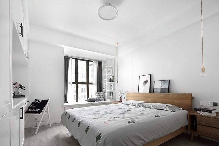 黑白调北欧风格装修卧室效果图