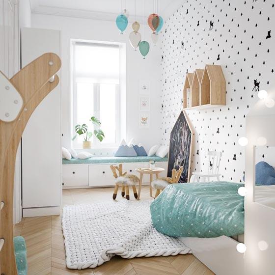 儿童房设计与装修摆放图