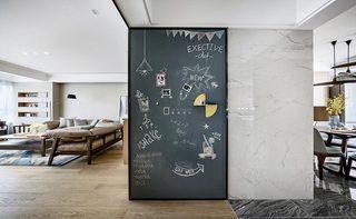 120㎡现代简约装饰墙效果图