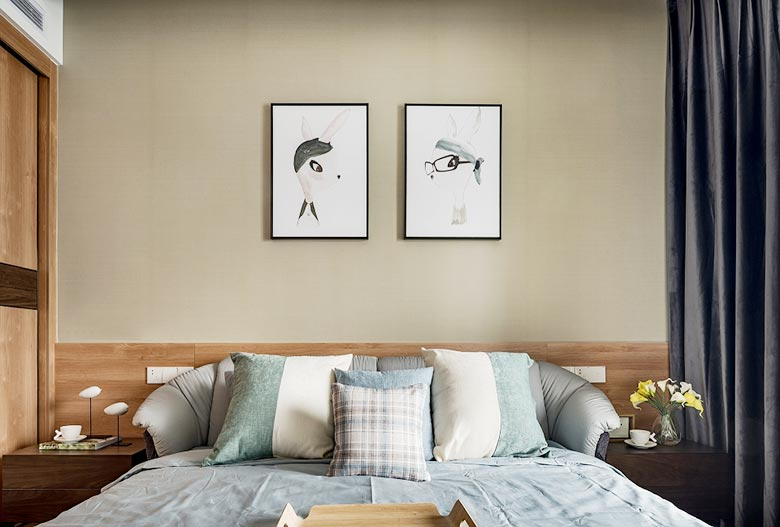 120㎡现代简约卧室参考图