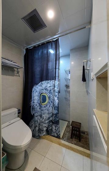 90平混搭风格装修卫生间效果图