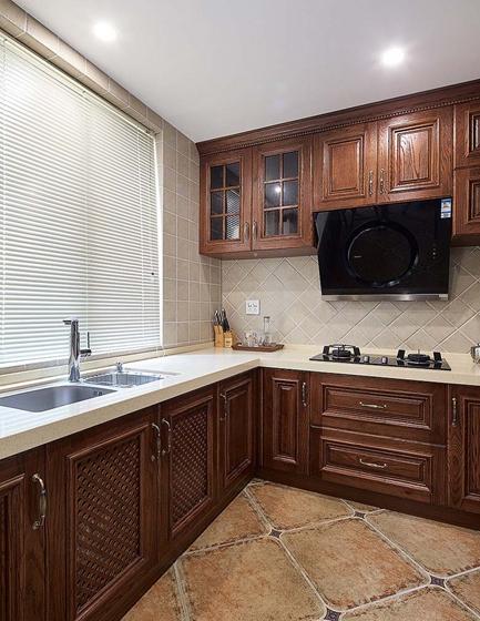 富有韵味的美式风格装修厨房效果图
