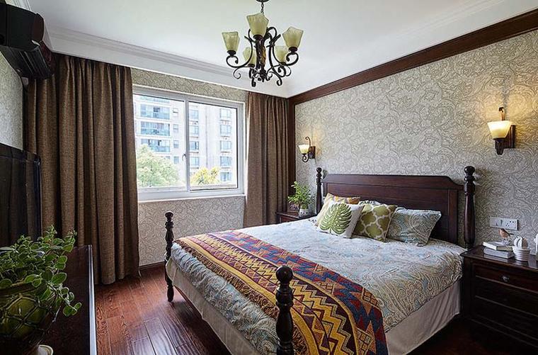 富有韵味的美式风格装修卧室效果图