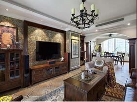 富有韵味的美式风格装修 140平精致两居室