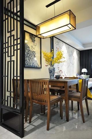 100平新中式风格装修餐厅效果图