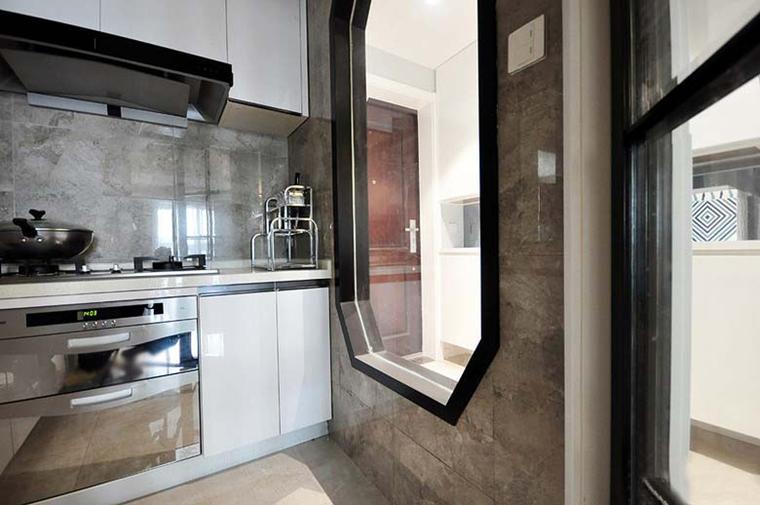100平新中式风格装修厨房效果图
