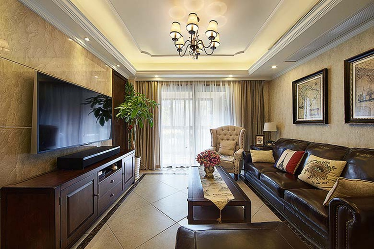 90平方米房子装修 你想不到的设计窗帘图片