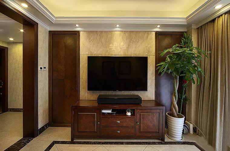 90平四居室装修电视柜