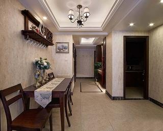 90平四居室装修餐厅效果图