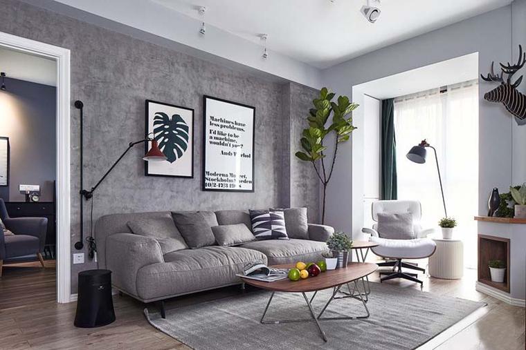 北欧风格三居室装修客厅效果图