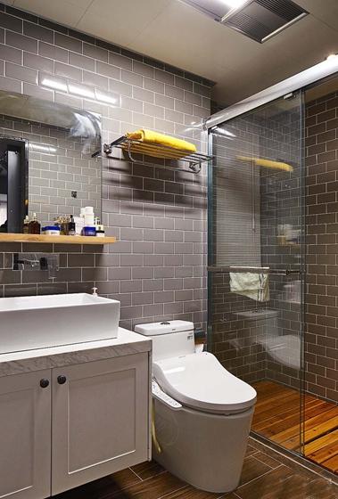北欧风格三居室装修卫生间效果图