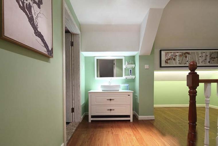 最漂亮的小复式装修收纳柜