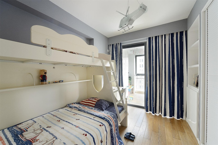 现代风格三居室装修儿童房效果图